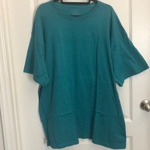 Teal plain tshirt